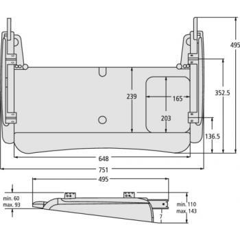 Support clavier ergonomique - Standard