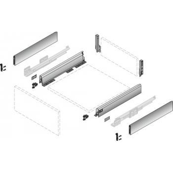 Kit tiroir 94 avec TopSide - hauteur 186 mm - blanc