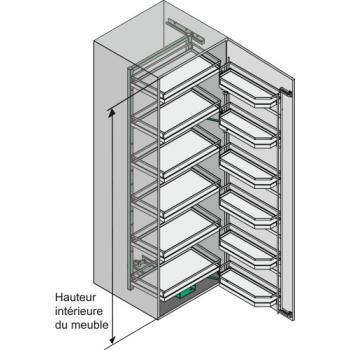 Armoire haute coulissante Tandem 6 niveaux - Arena Style