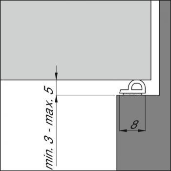 Joints caoutchouc tubulaires - espaces moyens - type P