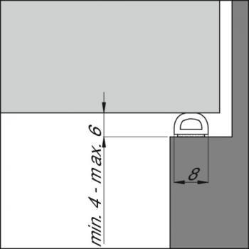 Joints caoutchouc bulbeux - espaces importants - type D