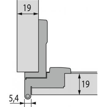 Charnière invisible spécifique extra-plates - Bras articulés 230° - Selekta Pro 2000