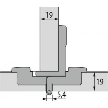 Charnière invisible spécifique extra-plates - Bras articulés 180° - lacet centré - Selekta Pro 2000