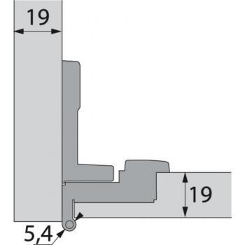 Charnière invisible spécifique extra-plates - Bras articulés 180° - rentrant - Selekta Pro 2000
