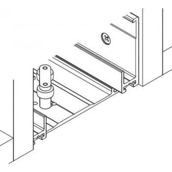 Profil de raccordement au corps du meuble - pour 2 portes