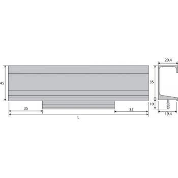 Poignée profil aluminium Rodas