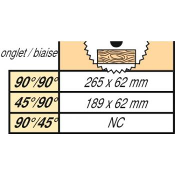 Scie à onglets radiale Ø 216 mm - DWS 777