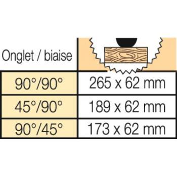 Scie à onglet radiale Flexvolt - DCS 777 T2