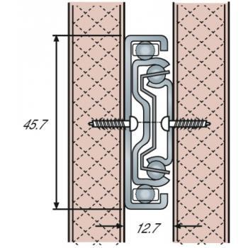Coulisses à billes - charge 45 kg - sortie totale - Pour tiroir à montage latéral - DH 3832