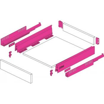 Tiroir simple hauteur 70 mm - complet - avec coulisses Push to Open 30 kg - anthracite