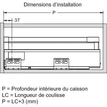 Tiroirs casseroliers double paroi - Sortie totale - Hauteur 154 mm - Ouvéa II