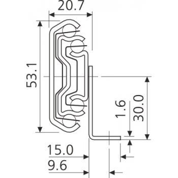Coulisses à billes - charge 120 kg - sortie totale - Pour tiroir montage latéral avec plaque de montage - 5321-60