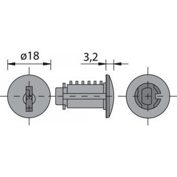 Cylindres interchangeables - Z 23 Ø18 - s'entrouvrant sur numéro de variure