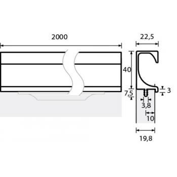 Poignée profil aluminium Eslinga