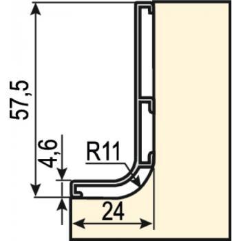 Poignée profil supérieur horizontal Gola-E
