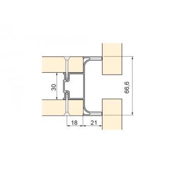 Poignée profil central vertical Gola-E