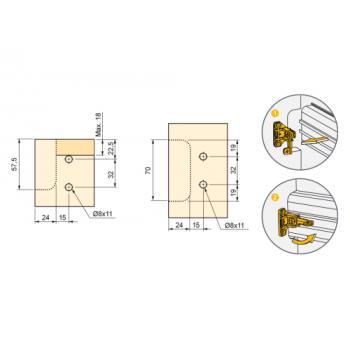 Support de fixation à expansion pour profil horizontal Gola-E