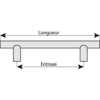 Poignée fil droite inox 304 Ø 12 mm Boëdic - Legallais