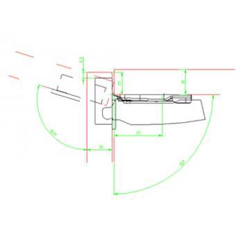 Charnières invisibles pour portes fines - 110 ° sans amorti - Sensys 8646