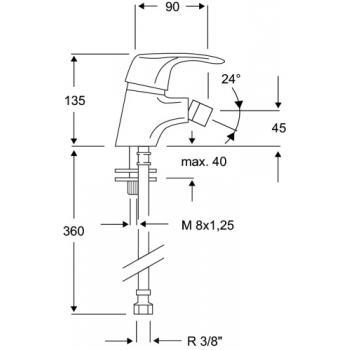 Mitigeur bidet S4-01
