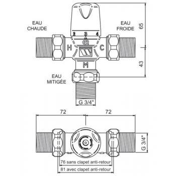Mitigeur thermostatique centralisé Compact MMV-C
