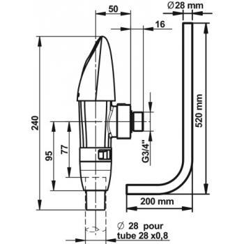 Kit de chasse n° 5 avec robinet Presto 1000 XL