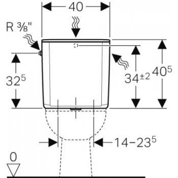 Réservoir attenant double touche AP128