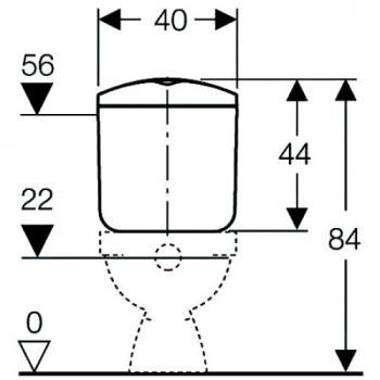 Réservoir attenant double touche Basic