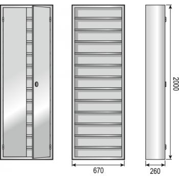 Armoires d atelier métallique 12 étagères équipées FSCH