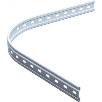 Rail profilé courbe 1722 section 40 x 6 mm pour ferrures porte coulissante sur fer plat - série Bob