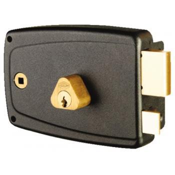 Serrure en applique horizontale à fouillot - Pêne dormant et demi-tour - A cylindre rond - Match