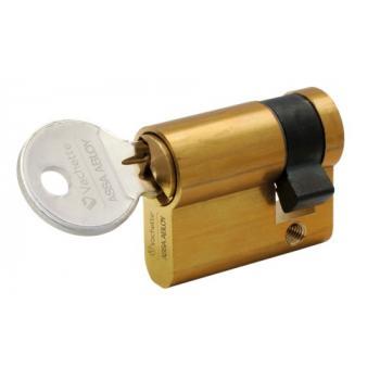 Cylindre simple de sûreté - Profil européen s entrouvrant en Laiton poli - Série 5000