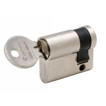 Cylindre simple de sûreté - Profil européen s'entrouvrant en Laiton nickelé - Série 5001