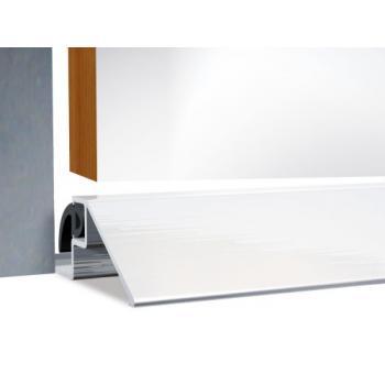 Seuil de porte aluminium ''à la Suisse'' en 50 X 15 mm avec joint d'étanchéité longueur 1000 mm