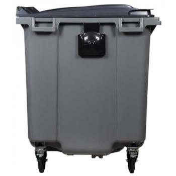 Conteneur 4 roues 1000 litres - préhension latérale
