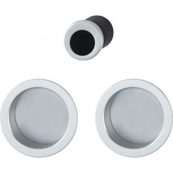Set de tirage aluminium pour porte coulissante rosace ronde 4920
