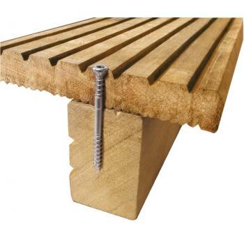 Vis terrasse bois tête cylindrique réduite double filet empreinte torx inox A4