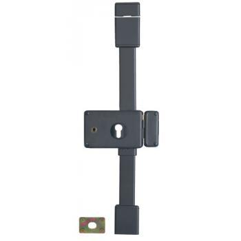 Serrure en applique horizontale 3 points à fouillot 6 mm - A cylindre européen - HORGA