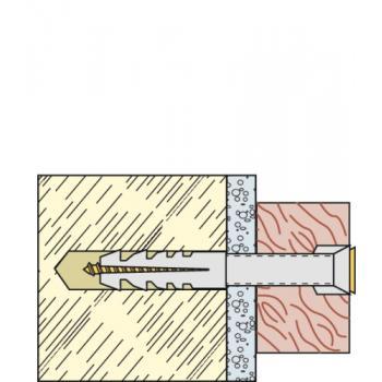 Chevilles nylon fixation légère S sans collerette