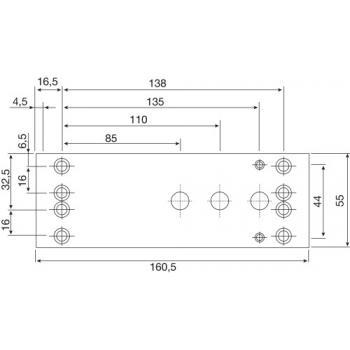 Plaque de montage pour ferme-porte TS 2000, TS 3000, TS Wood, TS 4000 et TS 5000