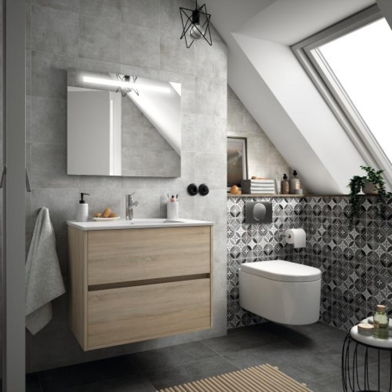 Miroir de salle de bain éclairant Sunset avec système anti ...