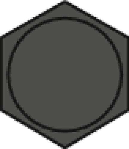 Vis à métaux tête hexagonale acier zingué blanc 8.8 entièrement filetées