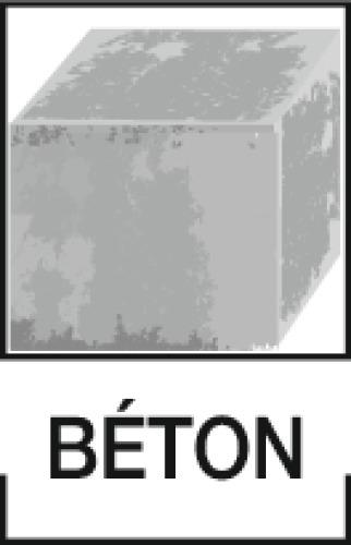 Goujons métalliques fixations lourdes R-HPTII-ZF zingué lamellaire