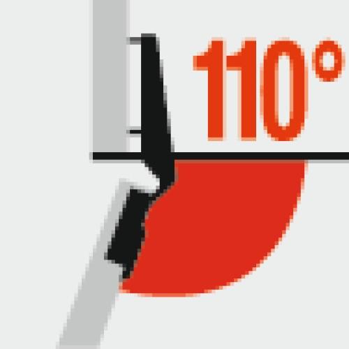Charnières invisibles 110deg. à montage rapide Fix - Harpe II