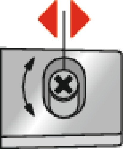 Plaques de montage cruciforme avec vis Euro 8099C - réglage par excentrique