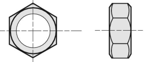 Écrous hexagonaux Hu inox A4