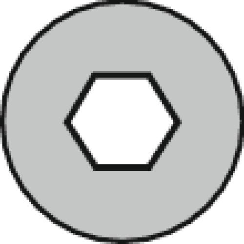 Vis à métaux tête cylindrique empreinte 6 pans creux acier brut 8.8 partiellement filetées