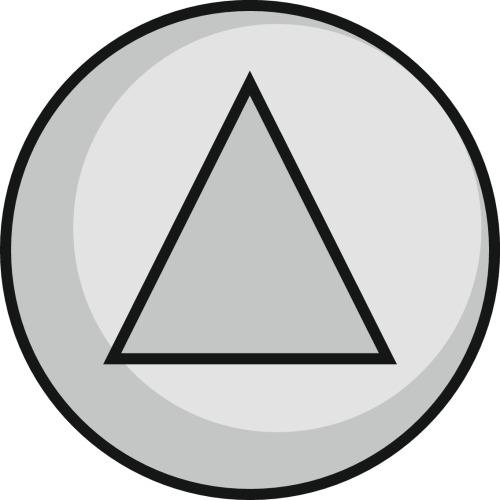 Batteuse à 1/2 tour triangle de 11 mm coupe feu