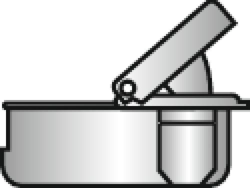 Charnières invisibles amorties 105° boîtier à montage rapide - Hancock