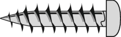 Vis à bois agglomérée tête cylindrique empreinte Torx acier zingué blanc entièrement filetées